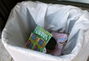 lottery in trash